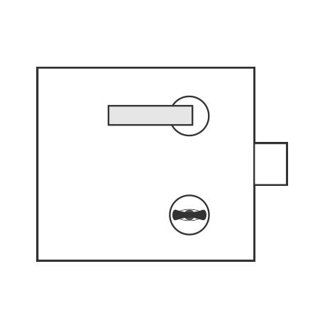 Standartinė WC užraktui